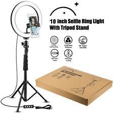 "10"" LED Ring Light with Camera Tripod Stand & Phone Holder  Ringlight Kit  US DA"