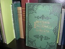 VERY RARE Mistakes of INGERSOLL 1880 & OTQ Thy Word is Truth Watchtower Russell
