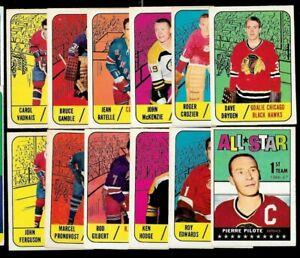 1960-61 & 1967-68 TOPPS 67-68 NHL HOCKEY CARD 1-132 SEE LIST
