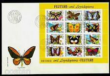 1991 Butterflies,Mariposa,Schmetterlinge,Papillons,Farfalle,Romania,B.267-68,FDC