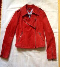 Tommy Hilfiger-Lederjacke aus traumhaft weichem roten Wildleder