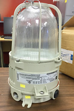R STAHL EXPLOSION PROOF 150W HPS PENDANT FIXTURE W/QUAD TAP AND GUARD