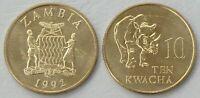 Sambia / Zambia 10 Kwacha 1992 p32 unz.