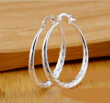 Plated sty Dangle Earrings 40Mm E6 Fashion Jewelry Womens 925 Sterling silver