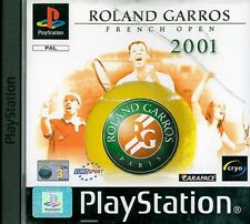 Roland Garros French Open 2001 Sony Playstation 1 PS1 3+ Tennis Game