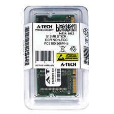 512MB STICK SODIMM DDR NON-ECC PC2100 266MHz 266 MHz DDR-1 DDR 1 512M Ram Memory