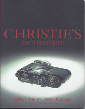 CHRISTIE'S CAMERAS LEICA NIKON CANON ALPA Auction Catalog 2001