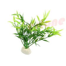 Aquarium Simulated Green Bamboo Leaf Plant Grass Fish Tank Decoration