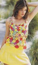 Crochet Pattern ~ LADIES SASSY SUMMER TANK TOP ~ Instructions