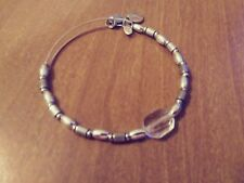 Alex And Ani Ahead Of The Curve Silver & clear beaded Bracelet