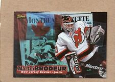 martin brodeur new jersey devils insert card 1998 topps local legends l6