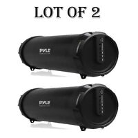 """Lot of 2- Dual 2"""" Portable Bluetooth BoomBox Stereo System,Rechargeable Battery"""