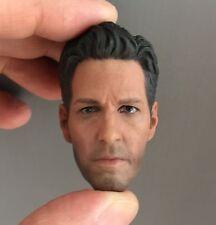 █ Custom Paul Rudd 2.0 1/6 Head Sculpt for Hot Toys Body Scott Lang Ant-Man █