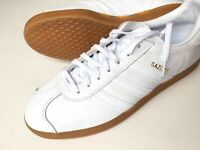 Adidas Men's Gazelle BD7479 White Gum Leather Sneaker Size 10.5