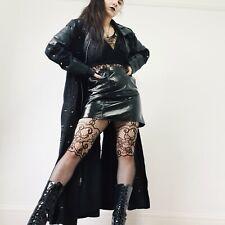ADERLASS Incredible Full Length Gothic Black Trench Coat Alt Matrix BDSM Look M