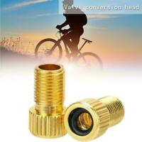 Bike Cycle Bicycle Pump Tube Presta to Schrader Valve Road Converter T9Q4