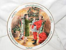 Vintage Royal Doulton Family Christmas Plate Dad Plays Santa 1991