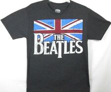 The Beatles British Flag Mens T-Shirt Music Group Distressed Look Size Small