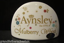 AYNSLEY ENGLISH CHINA MULBERRY WOOD BONE SHOP RETAIL DISPLAY SIGN POINT OF SALE
