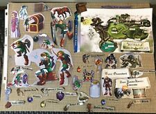 Legend Of Zelda Ocarina Of Time Official Strategy Guide -Art Work Clippings Only