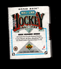 1991-92 UPPER DECK HOCKEY HIGH SERIES SET FACTORY SEALED - GREAT CONDITION