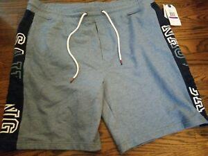 Nautica Men's Size XXL Shorts Sailing K92583 Beach Blue / Dark Blue White Trim