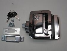 Chrome RV Entry Door Lock Handle Knob w / deadbolt Camper Trailer NEW FIC