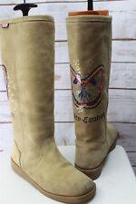 Juicy Couture 7/8? (UNKNOWN) Women's Tan Suede Winter Boots