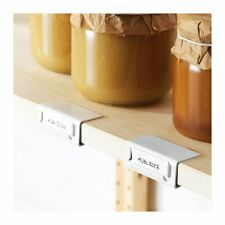 IKEA IVAR pack of 2 WHITE shelf label holders organisation 603.815.96 NEW