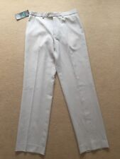 MARKS AND SPENCER TAILORING LINEN LOOK BEIGE TROUSERS SIZE 32 W 33 L BNWT NEW