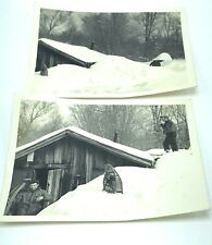 Schenectady NY Photos 1971 Lot of 2 Six Feet of Snow Men Blizzard Storm