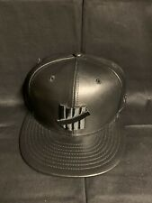 New Era Undefeated 59fifty Hat Cap Black  7 1/4 Leather