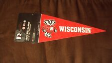 Wisconsin Badgers Felt Pennant Office Cubicle Dorm Room Size