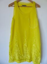 Immaculate DIESEL Stunning Canary Yellow Top with Embroidery Size S, Worn Once!