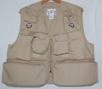 Vintage Bazooby Mens Fly Fishing Hunting Sports Vest Pockets Tactical Utility L