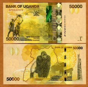 Uganda, 50000 (50,000) Shillings, 2015, P-54c, UNC > Gorilla