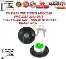 FIAT GRANDE PUNTO FIAT IDEA  FUEL PETROL DIESEL FILLER LOCKING TANK CAP & KEYS