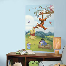 WINNIE THE POOH 3' X 5' PEEL AND STICK WALL DECAL MURAL Nursery or Bedroom Decor