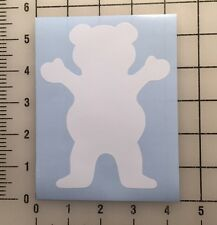"Grizzly Griptape Bear Diamond Supply Co 5"" Tall White Vinyl Decal Sticker - Bogo"
