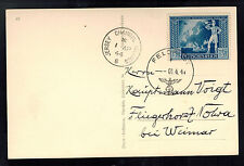 1944 Occupied Jersey England Real Picture Postcard Cover to Weimar Germany