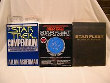 STAR FLEET TECH MANUALS 1975, 1st Release 1986 20th Anniversary Edition + MORE!