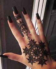 Golecha mini black henna cone temporary tattoo body art kit 48 pcs free oil