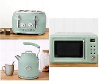 Retro Seafoam 4 Slice Toaster,Microwave & Matching 1.7L 3kW Jug Kettle [Set] D*