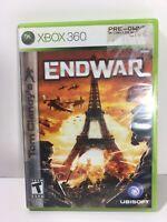 Tom Clancy's EndWar (Xbox 360, 2008) COMPLETE W/MINI GUIDE, END WAR