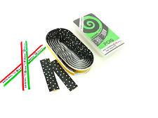 Ambrosio handlebar tape vintage Racing bicycle black w white polka dots NOS