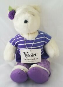 """Vintage 1984 North American Bear Co. The V.I.B.s """"Violet The Exercise Bear"""" 20"""""""