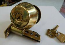 """U.S. Lock Light Commercial Deadbolt Brass S3 2 3/8"""" Latch 2 Keys - New"""