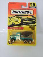 1997 MATCHBOX PETERBILT CEMENT TRUCK #19 - Blue - China Base