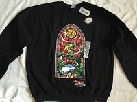 Legend of Zelda Windwaker HD Stained Glass Crew Pullover Hot Topic Solo Link