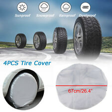 Set Of 4 Heavy Duty RV Car Wheel Tire Covers For Truck Trailer Camper Motorhome